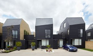 Newhall Be courtyard houses, by Alison Brooks Architects